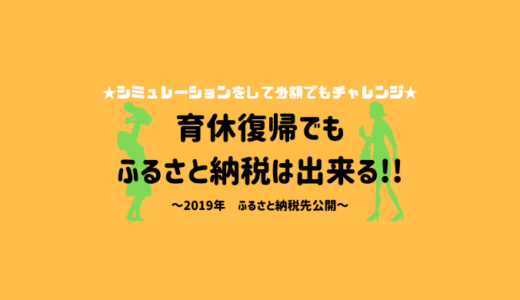 【ふるさと納税】育休復帰でも諦めないで!2019年寄付しました!
