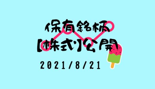 【2021年8月】日本株・外国株の保有銘柄および損益公開!