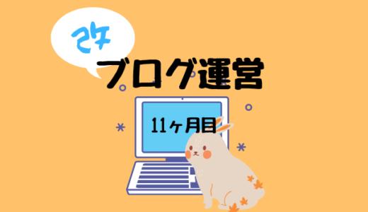 【ブログ運営】11ヶ月目のPV、収益報告~ワーママ投資ブログ~